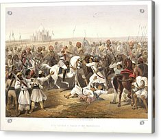 Capture And Death Of The Shahzadaghs Acrylic Print by British Library