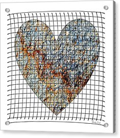 Acrylic Print featuring the digital art Captured Love- No1 by Darla Wood