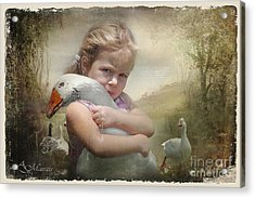Captured Memories-not The Perfect World Acrylic Print by Adelita Rog