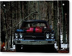 Car Art Chevy Chevelle Ss Hdr Acrylic Print