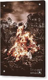 Car Bomb Inferno Acrylic Print by Jorgo Photography - Wall Art Gallery