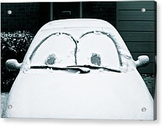 Car Covered In Snow Acrylic Print