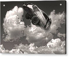 Car Crash In The Clouds Acrylic Print by Gregory Dyer