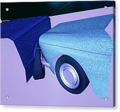 Car Crash Reconstruction Acrylic Print by Mauro Fermariello/science Photo Library