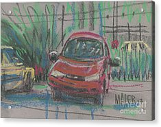 Acrylic Print featuring the painting Car Crazy by Donald Maier