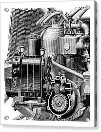 Car Engine And Magneto Acrylic Print