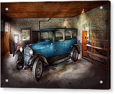 Car - Granpa's Garage  Acrylic Print by Mike Savad