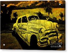 Car Grunge Acrylic Print by John Malone