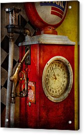 Car - Station - 19 Gallons  Acrylic Print by Mike Savad