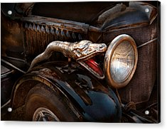 Car - Steamer - Snake Charmer  Acrylic Print by Mike Savad