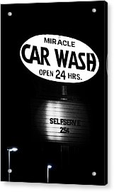 Car Wash Acrylic Print by Tom Mc Nemar