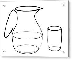 Carafe Glass Line Acrylic Print