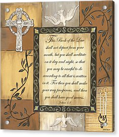 Caramel Scripture Acrylic Print