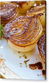 Caramelized Balsamic Onions Acrylic Print by Edward Fielding