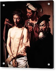 Acrylic Print featuring the digital art Caravaggio Eccehomo by Caravaggio