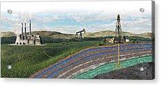 Carbon Capture Technology Acrylic Print