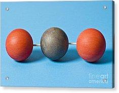 Carbon Dioxide Molecule Acrylic Print by Martyn F. Chillmaid