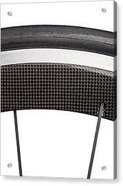 Carbon Fibre Bicycle Wheel Acrylic Print