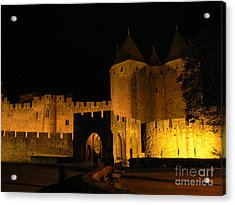 Carcassonne At Night Acrylic Print by France  Art