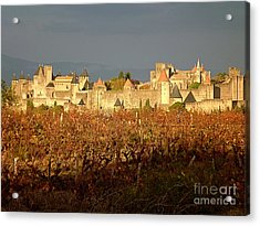 Carcassonne In Fall Acrylic Print by France  Art