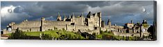 Carcassonne Panorama Acrylic Print by Robert Lacy