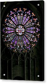 Carcassonne Rose Window Acrylic Print
