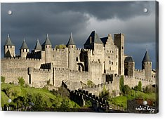 Carcassonne Stormy Skies Acrylic Print by Robert Lacy