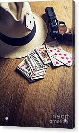 Card Gambling Acrylic Print by Carlos Caetano
