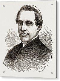 Cardinal Antonelli, Engraving 1873 Acrylic Print