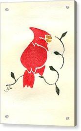 Cardinal Acrylic Print by Lori Johnson