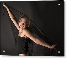 Acrylic Print featuring the photograph Carefree Girl by Bob Pardue