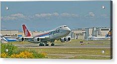 Cargolux 747-8f Acrylic Print by Jeff Cook