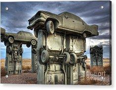 Carhenge Automobile Art 2 Acrylic Print by Bob Christopher