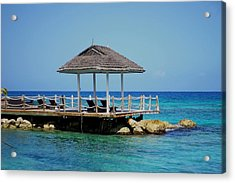 Caribbean Breeze Acrylic Print by Randy Pollard