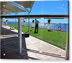 Caribbean Cruise - On Board Ship - 121284 Acrylic Print