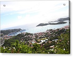 Caribbean Cruise - St Thomas - 1212248 Acrylic Print by DC Photographer