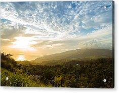 Caribbean Dream - Martinique Sunset Over Mount Pelee Acrylic Print