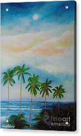Acrylic Print featuring the painting Caribbean Dream by Nereida Rodriguez