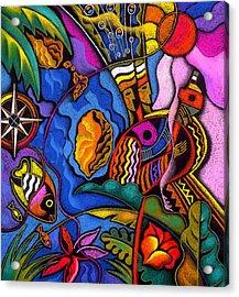 Caribbean Acrylic Print by Leon Zernitsky