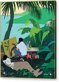 Caribbean Painter Acrylic Print