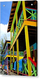 Caribbean Porches Acrylic Print by Randall Weidner