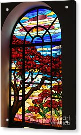 Caribbean Stained Glass  Acrylic Print
