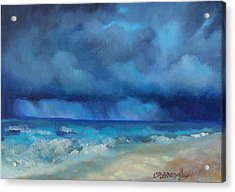 Caribbean Storm Acrylic Print by Chris Brandley