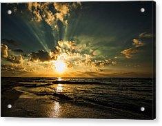 Caribbean Sunrise Acrylic Print by Stuart Deacon