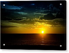 Acrylic Print featuring the photograph Caribbean Sunset ... by Chuck Caramella