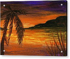 Caribbean Sunset Acrylic Print by Anastasiya Malakhova