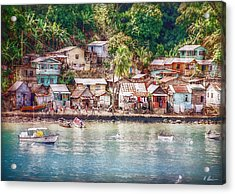 Acrylic Print featuring the photograph Caribbean Village by Hanny Heim