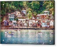Caribbean Village Acrylic Print by Hanny Heim