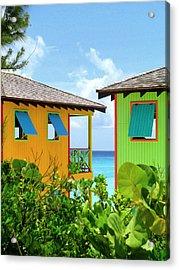 Caribbean Village Acrylic Print by Randall Weidner