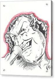 Caricature Joe Cocker Acrylic Print